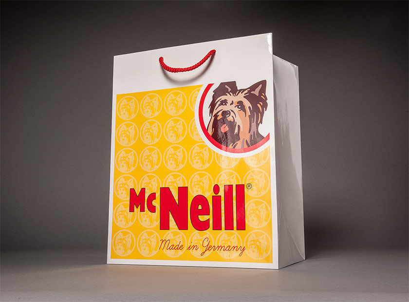 High-quality paper bag with cord, McNeil