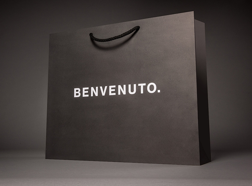 XXL printed paper carrier bag, Benvenuto motif